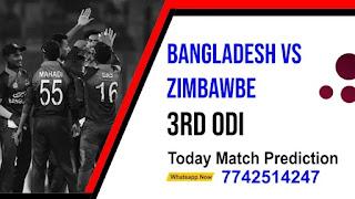 Bangladesh Series With Zimbabwe ODI, Match 3rd: Ban vs Zim Today cricket match prediction 100 sure
