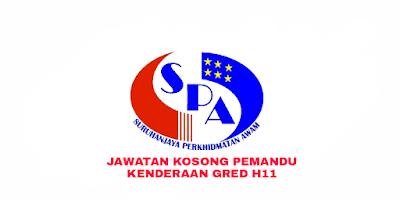 Permohonan Jawatan Kosong Pemandu Kenderaan Gred H11 2018