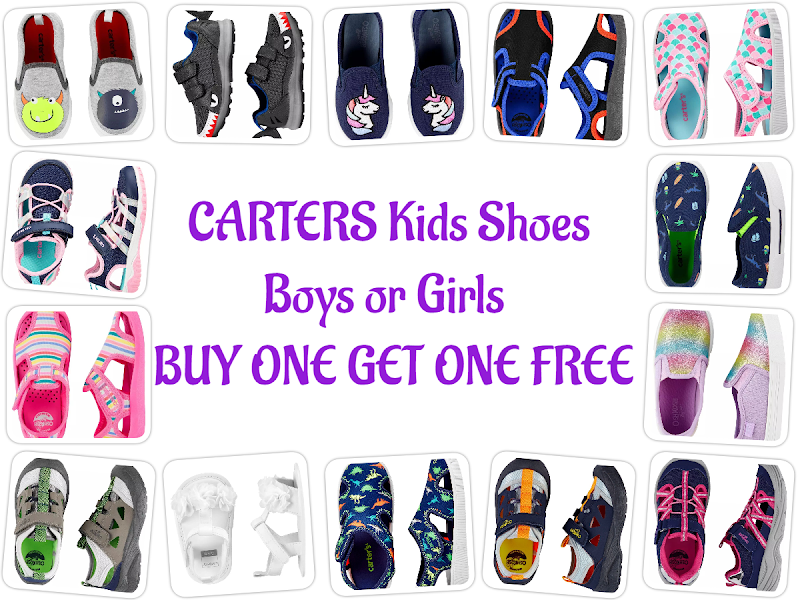CARTERS Kids Shoes Boys or Girls  BUY ONE GET ONE FREE