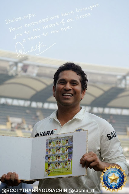 get a personalized Sachin's autographed photograph from BCCI