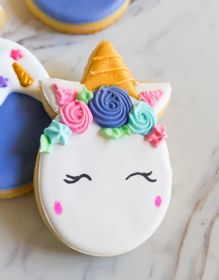 how to make Unicorn Easter Egg Cookies