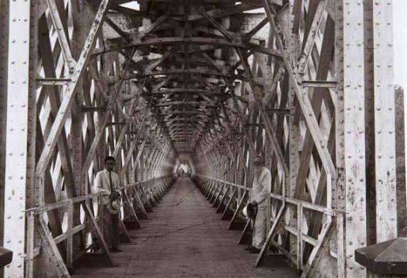 Foto Jembatan Cirahong Tempo Dulu (tahun tidak diketahui)