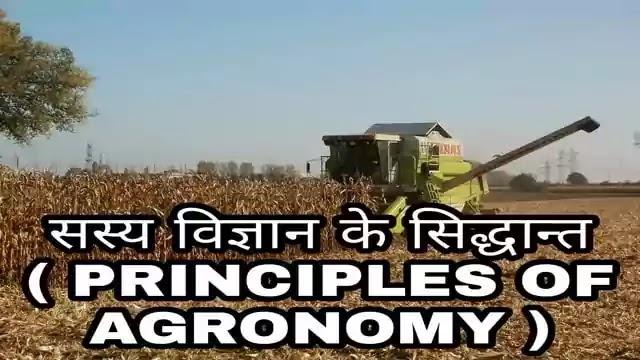 सस्य विज्ञान (Agronomy in hindi) क्या है - अर्थ, परिभाषा एवं सस्य विज्ञान (एग्रोनामी) के मूल सिद्धांत, क्षेत्र एवं महत्व