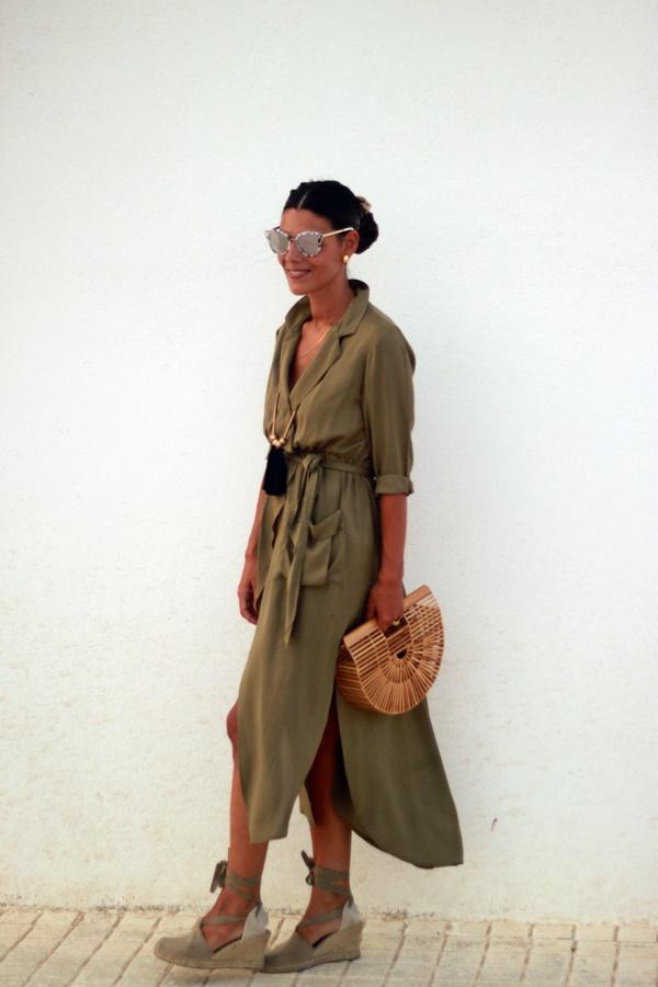 Vestido largo, vestido largo verde, verde kaki, long dress