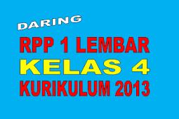 RPP Daring Kelas 4 Tema 5 Kurikulum 2013 - RPP 1 Lembar
