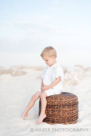 Boy in White Photo Session on the Beach