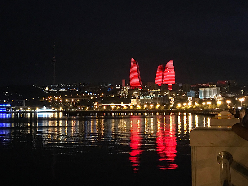 Fairmont Flame Towers in Baku