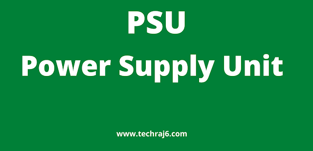 PSU full form, What is the full form of PSU
