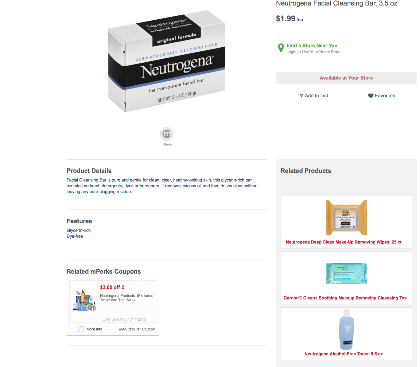 Meijer: FREE Neutrogena Cleansing Bar's!