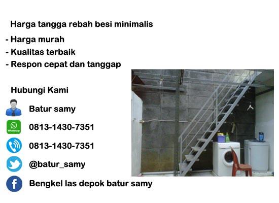 harga tangga rebah besi minimalis di jakarta timur