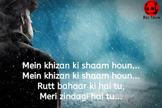 "Romantic shayari in Hindi ""Mein khizan ki shaam houn"""