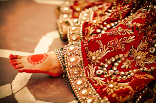 Red Designer Ghagra Choli (4).jpg