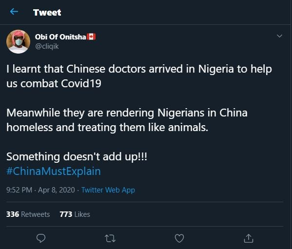[Photos] Chinese Doctors arrive Nigeria, Serious war on twitter #Arewapublisize