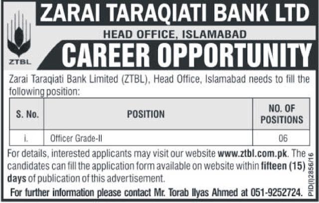 Jobs in ZTBL Bank