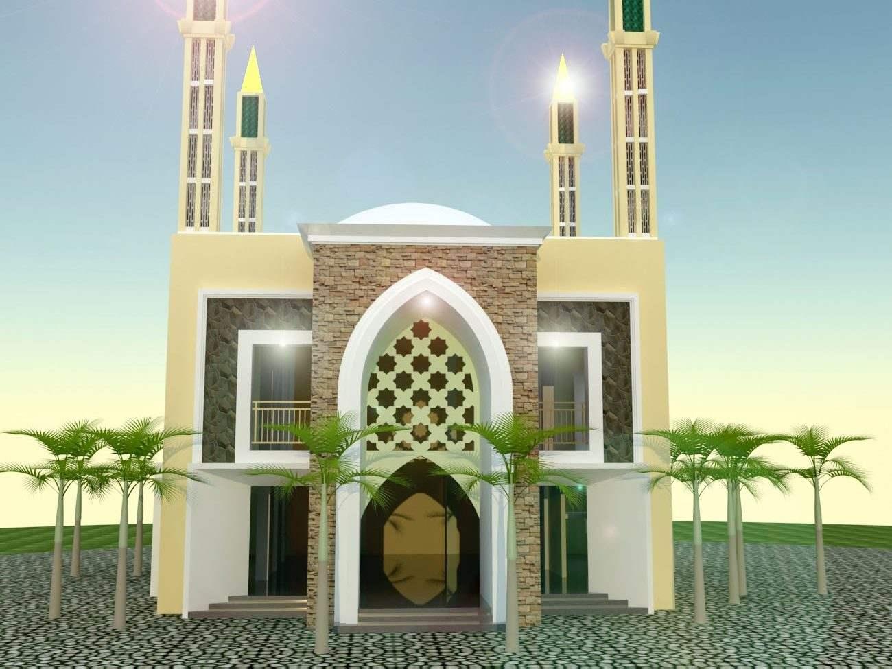 Jasa Arsitek Desain Masjid Lengkap Ukuran Kecil Besar Desain masjid kecil