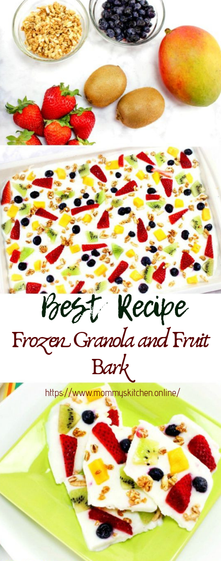Frozen Granola and Fruit Bark  #desserts #cakerecipe