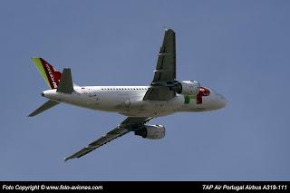AVIÓN AIRBUS A319 CS-TTD
