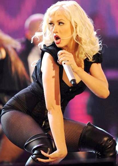 Foto de Christina Aguilera en el escenario