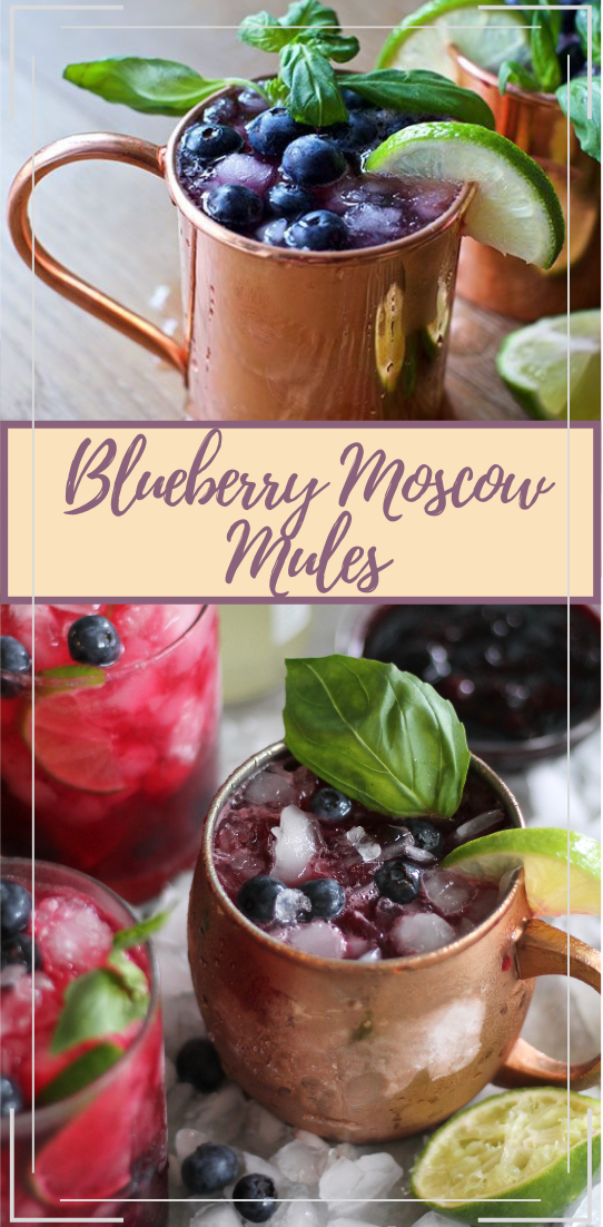 Blueberry Moscow Mules  #healthydrink #easyrecipe #cocktail #smoothie