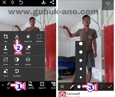 Cara manipulasi foto Extreme kepala butung tanpa mengganti background di picsart android Cara manipulasi foto Extreme kepala buntung tanpa mengganti background di picsart android