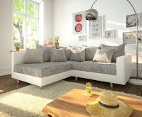 A nice sofa design and color for L-shaped living room furniture