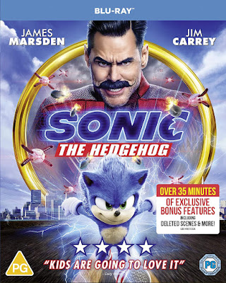 Sonic The Hedgehog Bluray Pack shot of cover showing evil Dr Robotnik and Sonic