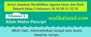 Kunci-Jawaban-Pendidikan-Agama-Islam-dan-Budi-Pekerti-Kelas-2-Halaman-18-19-20-21-22-23