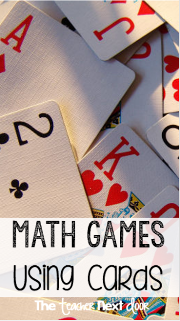 Upper Elementary Snapshots: 7 Math Games Using Playing Cards  Math Card Games
