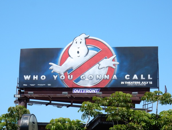 Ghostbusters movie logo billboard