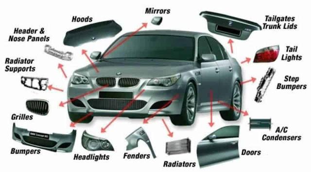 أهم قطع غيار السيارات باللغة الإنجليزية