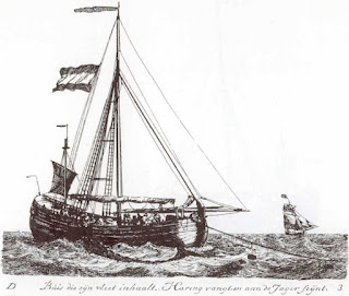 Dutch herring fishing boat by Gerrit Groenewegen in 1789