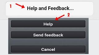 help and feedback par click kar help par click kare