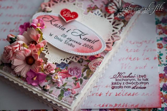 kartka ślubna ręcznie robiona,Ewa Jarlińska, Evik, Evikowe-ch-file, Wild orchid crafts, Kwiaty papierowe, Motyl, love