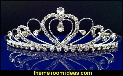 Wedding Tiara Crown With Crystal Heart
