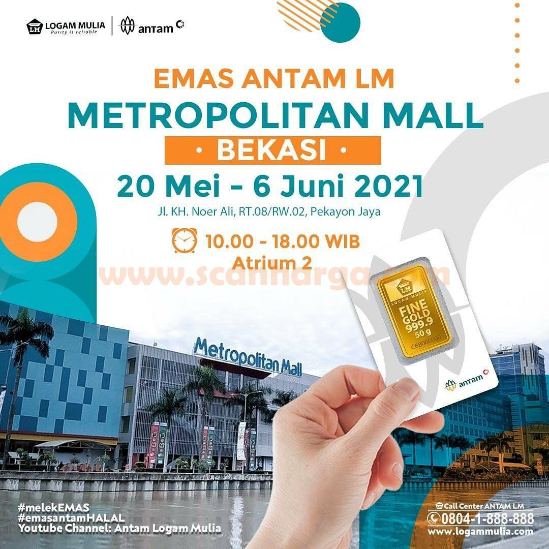 Metropolitan Mall Bekasi Present Pameran Emas Antam Logam Mulia