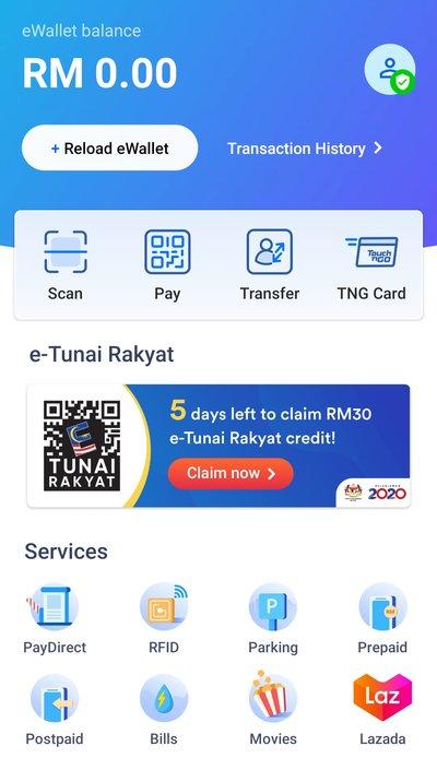 Gagal Claim Touch n Go eWallet RM30