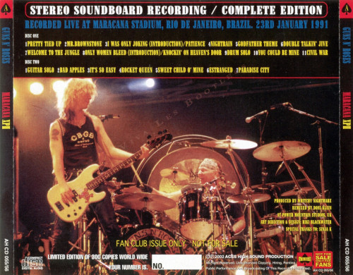 Reliquary: Guns N' Roses [1991.01.23] Maracana XPII [SBD]