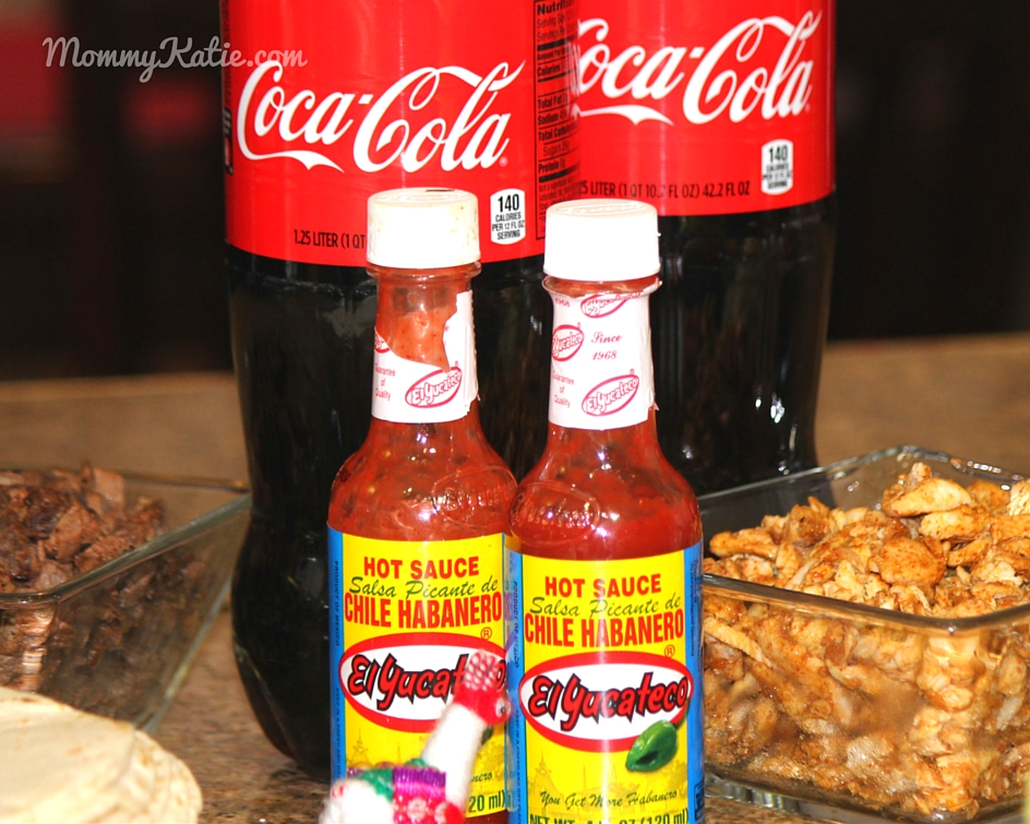 b6167cedef94 After setting up the taco bar I added some refreshing iced cold Coca-Cola  products for guests to drink