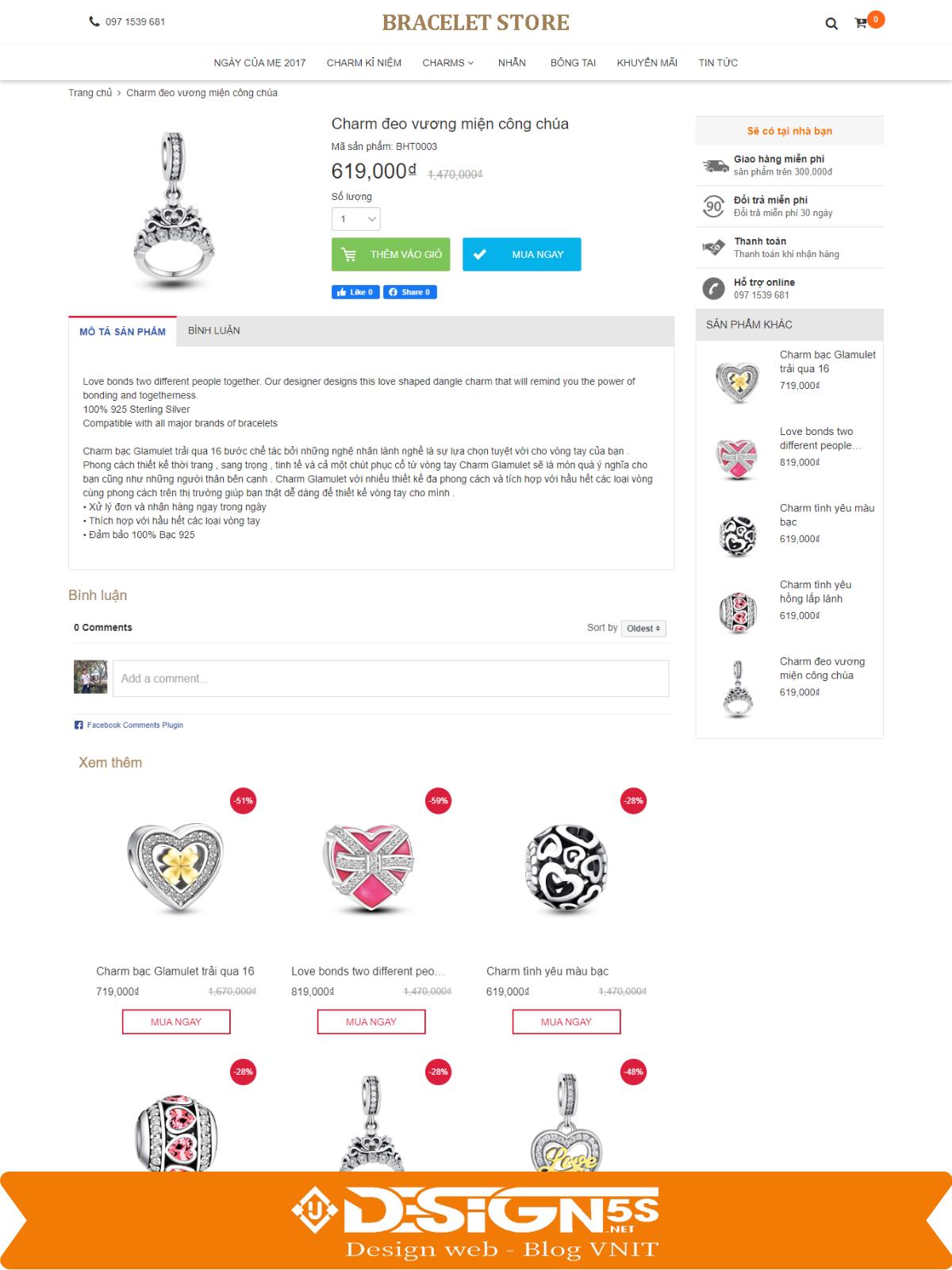 Mẫu Website Bán Trang Sức , Phụ Kiện Tuyệt Đẹp - Ảnh 2