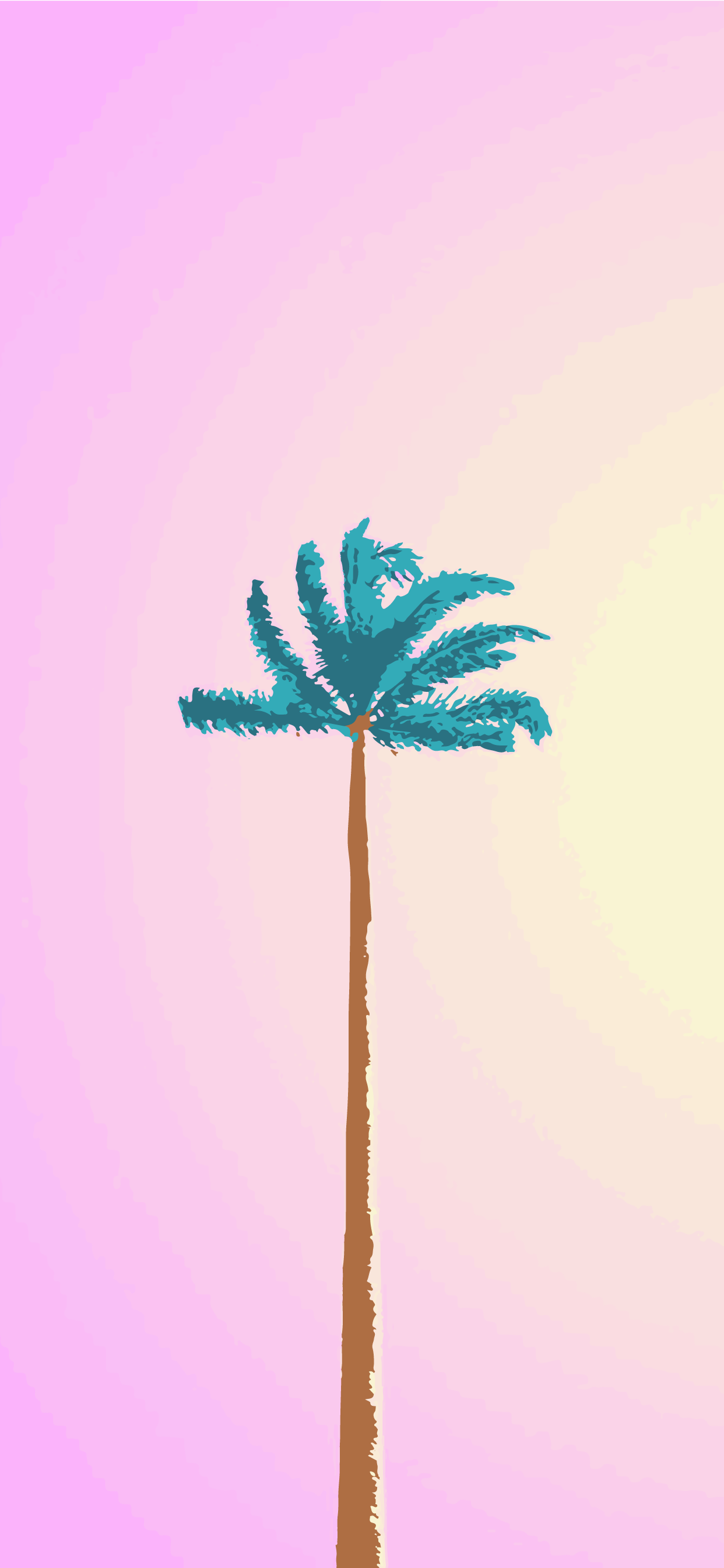 PALMS AESTHETIC WALLPAPER BACKGROUND FOR MOBILE PHONE