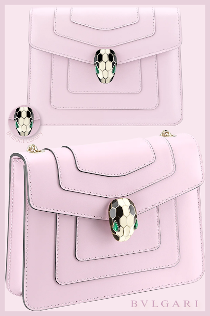 Bvlgari Serpenti Forever crossbody bag in rosa di francia calf leather #brilliantluxury