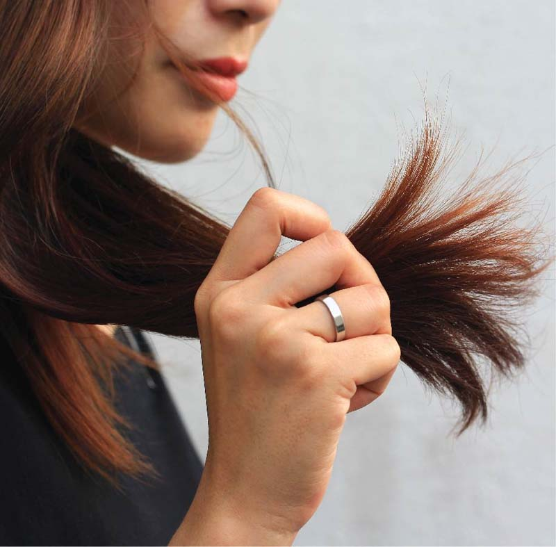 Healthier and gentler habits can be a cure for split ends.