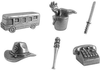 Les figurines du Monopoly de The Walking Dead