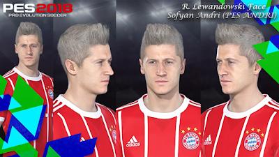 PES 2018 Faces by Sofyan Andri ( R. Lewandowski )