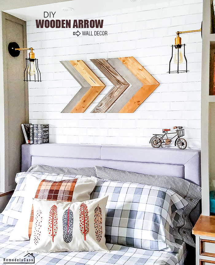 DIY - Wooden Arrow wall art
