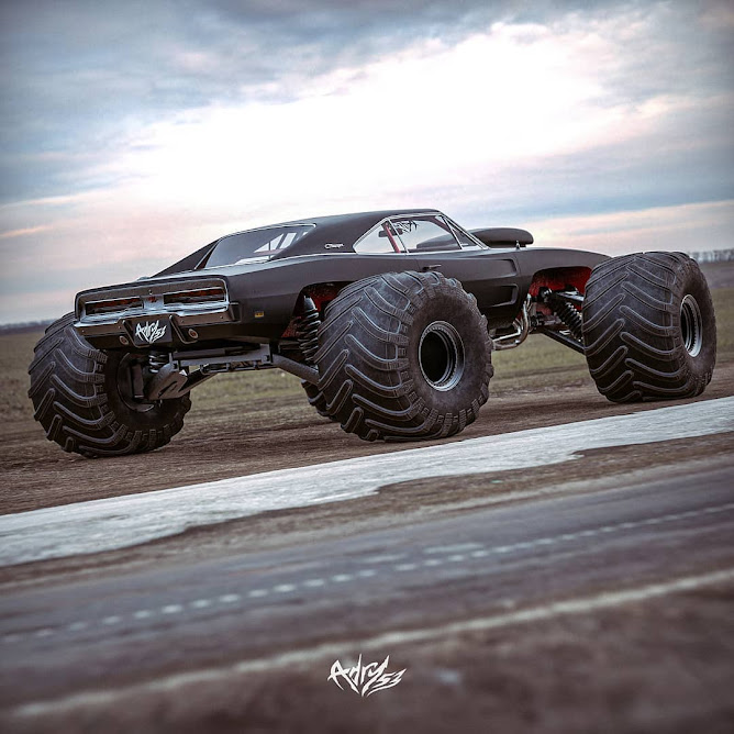 1969 Maxx - Dodge Charger Matte Black Bug-Out Vehicle by adry53customs 01