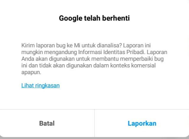Google telah berhenti