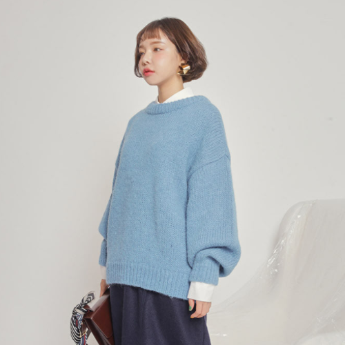 Ballooned Extended Sleeve Sweater