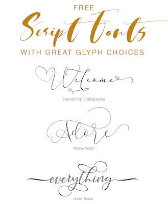 Script Font With Tail : script, Script, Fonts, Multiple, Glyph, Styles