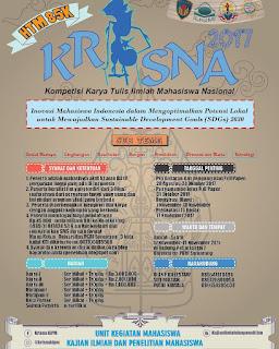 Kompetisi Karya Tulis Ilmiah Nasional (Krisna) 2017   Univ. PGRI Semarang   Mahasiswa